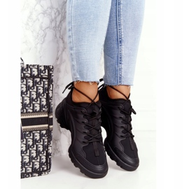 PS1 Damskie Sportowe Buty Sneakersy Czarne Born This Way 4