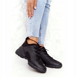 PS1 Damskie Sportowe Buty Sneakersy Czarne Born This Way 5