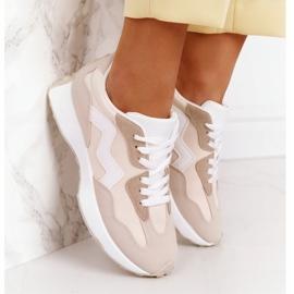 PS1 Damskie Sportowe Buty Sneakersy Beżowe Move On beżowy 4