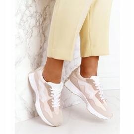 PS1 Damskie Sportowe Buty Sneakersy Beżowe Move On beżowy 5
