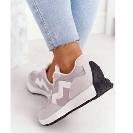 PS1 Damskie Sportowe Buty Sneakersy Szare Move On 1