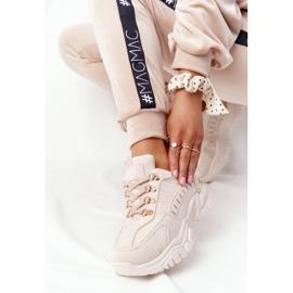 PS1 Damskie Sneakersy Na Dużej Podeszwie Beżowe Good Mood beżowy 5