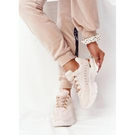 PS1 Damskie Sneakersy Na Dużej Podeszwie Beżowe Good Mood beżowy 1