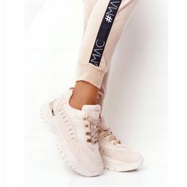 PS1 Damskie Sneakersy Na Dużej Podeszwie Beżowe Good Mood beżowy 4