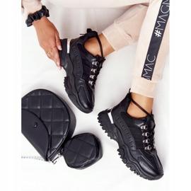 PS1 Damskie Sneakersy Na Dużej Podeszwie Good Mood czarne 3