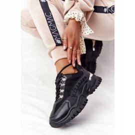 PS1 Damskie Sneakersy Na Dużej Podeszwie Good Mood czarne 5