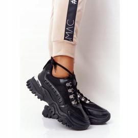 PS1 Damskie Sneakersy Na Dużej Podeszwie Good Mood czarne 4
