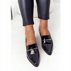 Eleganckie Mokasyny S.Barski Premium Lakierowane Czarne 1