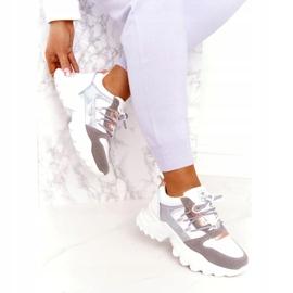Evento Sportowe damskie sneakersy News 21SP26-3973 białe srebrny szare złoty 2