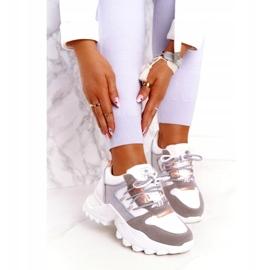 Evento Sportowe damskie sneakersy News 21SP26-3973 białe srebrny szare złoty 1