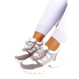 Evento Sportowe damskie sneakersy News 21SP26-3973 białe srebrny szare złoty 3