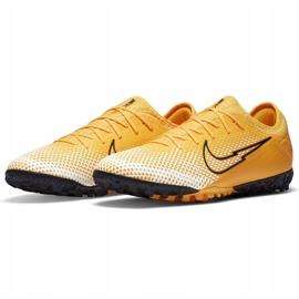 Buty piłkarskie Nike Mercurial Vapor 13 Pro Tf AT8004 801 pomarańczowe żółte 3