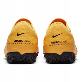 Buty piłkarskie Nike Mercurial Vapor 13 Pro Tf AT8004 801 pomarańczowe żółte 4