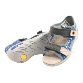 Befado obuwie dziecięce pu 065P158 niebieskie szare 4
