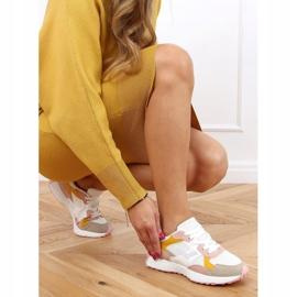 Buty sportowe wielokolorowe BL209P Pink białe różowe żółte 3