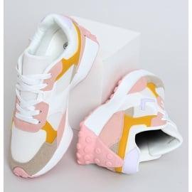 Buty sportowe wielokolorowe BL209P Pink białe różowe żółte 1