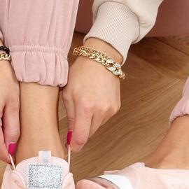 Buty sportowe damskie różowe BM-587 Pink srebrny 2