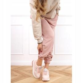 Buty sportowe damskie różowe BM-587 Pink srebrny 3