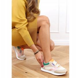 Buty sportowe damskie wielokolorowe NB372 Beige beżowy różowe zielone żółte 3