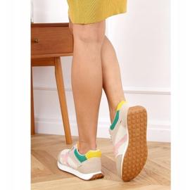 Buty sportowe damskie wielokolorowe NB372 Beige beżowy różowe zielone żółte 2