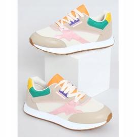 Buty sportowe damskie wielokolorowe NB372 Beige beżowy różowe zielone żółte 1