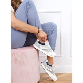 Buty sportowe damskie wielokolorowe NB372 White białe granatowe różowe srebrny szare 3