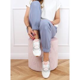 Buty sportowe damskie wielokolorowe NB372 White białe granatowe różowe srebrny szare 2