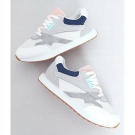 Buty sportowe damskie wielokolorowe NB372 White białe granatowe różowe srebrny szare 1