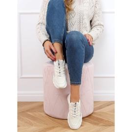 Buty sportowe damskie beżowe J143 Beige beżowy 2