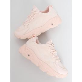 Buty sportowe damskie różowe NB373P Pink 1