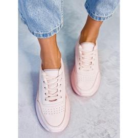 Buty sportowe damskie różowe LA131 Pink 2