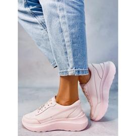 Buty sportowe damskie różowe LA131 Pink 3