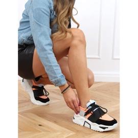 Buty sportowe na wysokiej podeszwie VL127 Black czarne różowe szare 3
