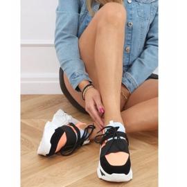 Buty sportowe na wysokiej podeszwie VL127 Black czarne różowe szare 2