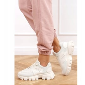 Buty sportowe beżowe LA155P Beige beżowy 3