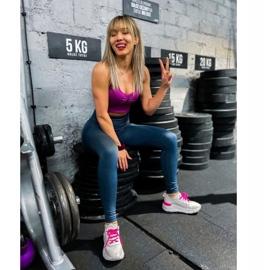 Kylie Klasyczne Obuwie Sportowe białe różowe 1