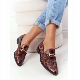 Eleganckie Damskie Mokasyny S.Barski Leopard brązowe 5
