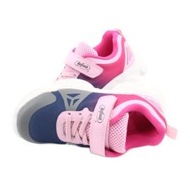 Befado obuwie dziecięce  516X054 granatowe różowe szare wielokolorowe 5