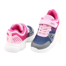 Befado obuwie dziecięce  516X054 granatowe różowe szare wielokolorowe 4