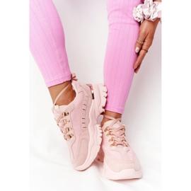 PS1 Damskie Sneakersy Na Dużej Podeszwie Różowe Good Mood 1