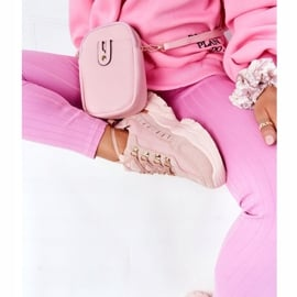 PS1 Damskie Sneakersy Na Dużej Podeszwie Różowe Good Mood 7