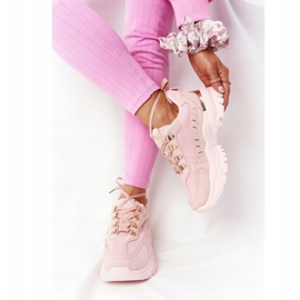 PS1 Damskie Sneakersy Na Dużej Podeszwie Różowe Good Mood 3