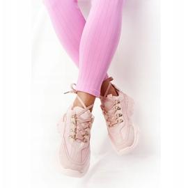 PS1 Damskie Sneakersy Na Dużej Podeszwie Różowe Good Mood 4