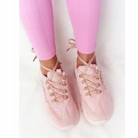 PS1 Damskie Sneakersy Na Dużej Podeszwie Różowe Good Mood 5