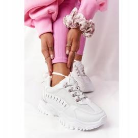 PS1 Damskie Sneakersy Na Dużej Podeszwie Białe Good Mood 1