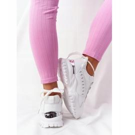 PS1 Damskie Sneakersy Na Dużej Podeszwie Białe Good Mood 5