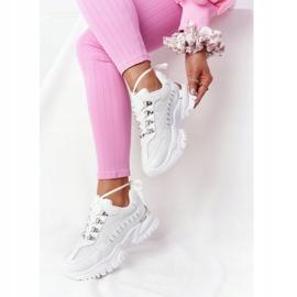 PS1 Damskie Sneakersy Na Dużej Podeszwie Białe Good Mood 6