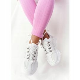 PS1 Damskie Sneakersy Na Dużej Podeszwie Białe Good Mood 7