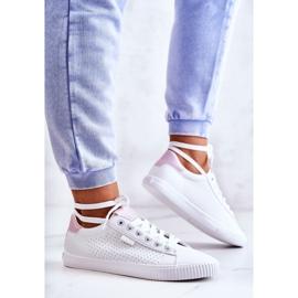 Damskie Tenisówki Big Star HH274073 Biało-Różowe białe 4