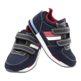 American Club Sportowe buty American RH24 Navy czerwone granatowe 4